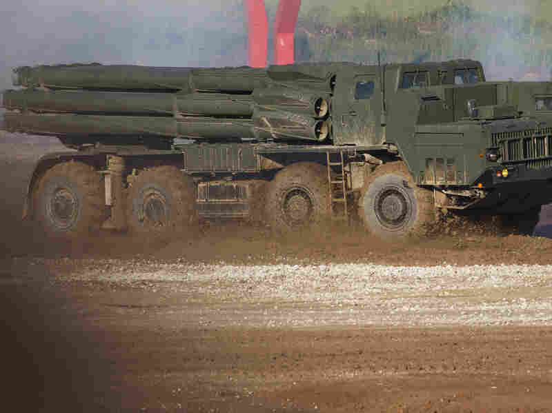 A Russian Tornado-S multiple rocket launcher was among the highlights of Russia's Army-2015 show in June.