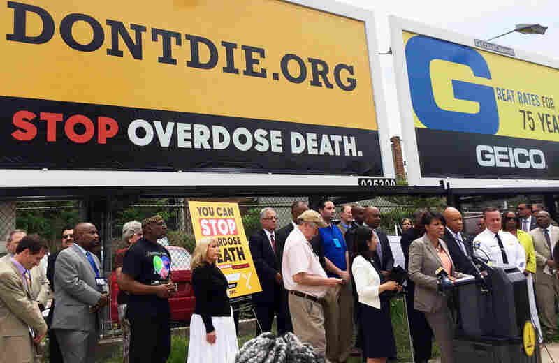 The kickoff of Baltimore's Don't Die campaign in July, which coincided with the release of a report by the mayor's Heroin Treatment & Prevention Task Force.
