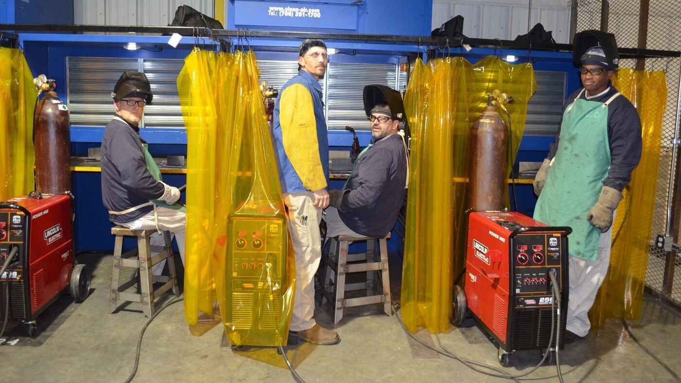 amid a shortage of welders  some prisons offer training   npr