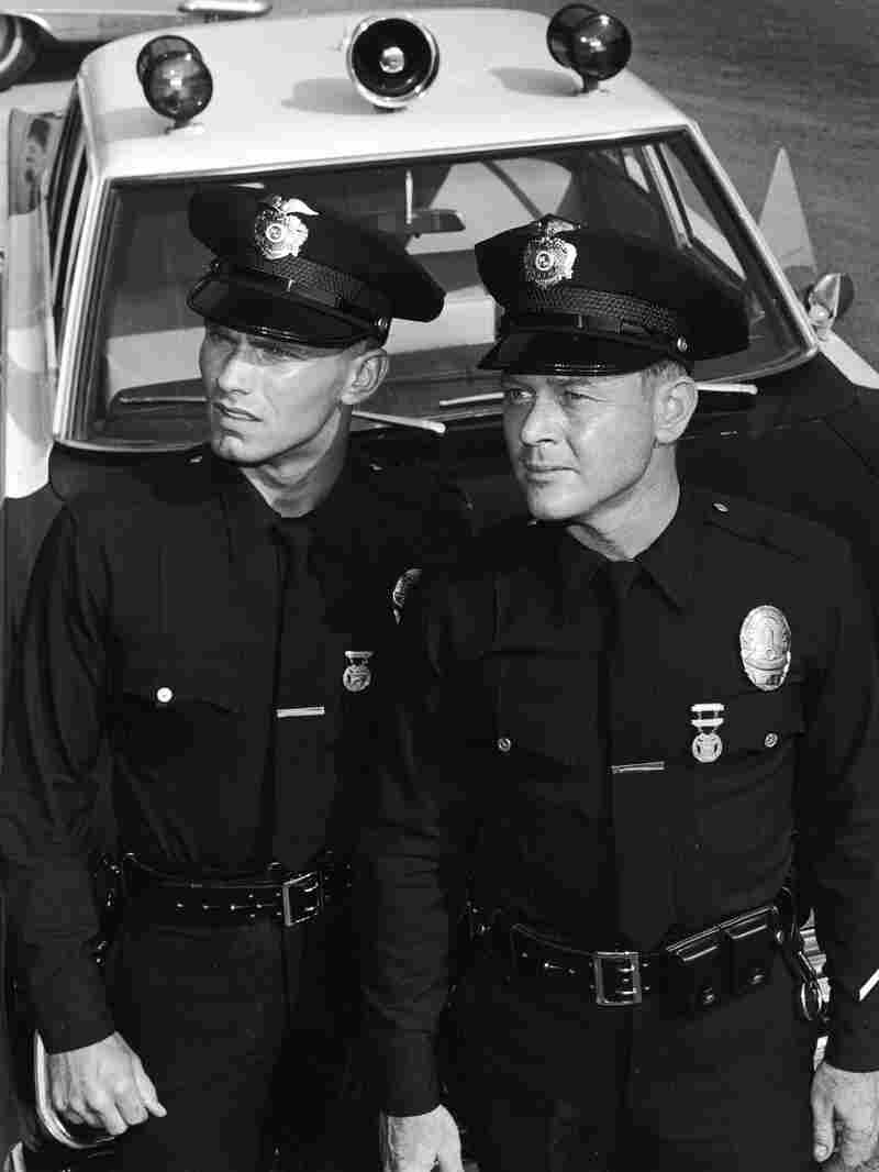 Martin Milner (right) died Sunday at age 83. He's seen here with co-star Kent McCord on the set of their TV series Adam-12 in 1969.