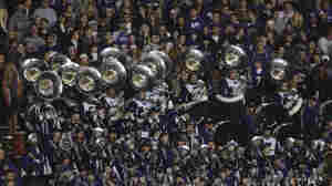 In this photo from November 3, 2012, the Kansas State Wildcats marching band perform during a game against the Oklahoma State Cowboys.