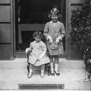 Elizabeth and her younger sister, Margaret, are pictured here in 1933.
