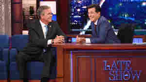 On 'Late Show,' The Spotlight Was Just Out Of Reach For Jeb Bush