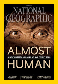 More details of the discovery of H. naledi appear in National Geographic magazine. All images in this post are from the magazine's October issue.