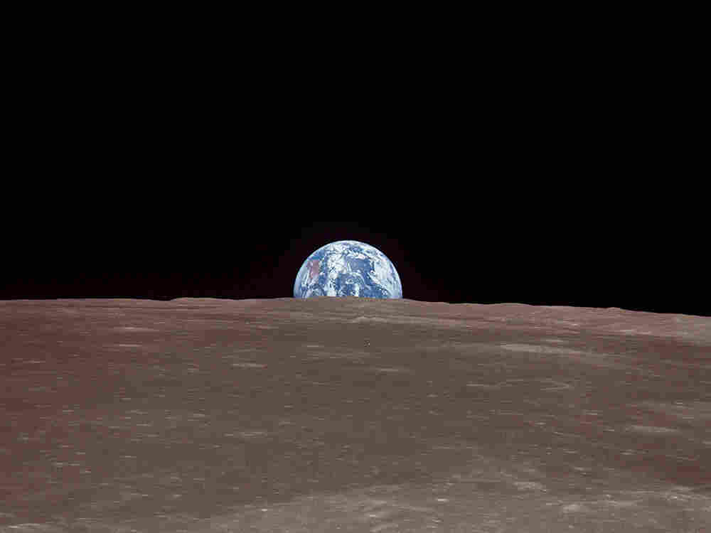 Earth as seen from the moon.