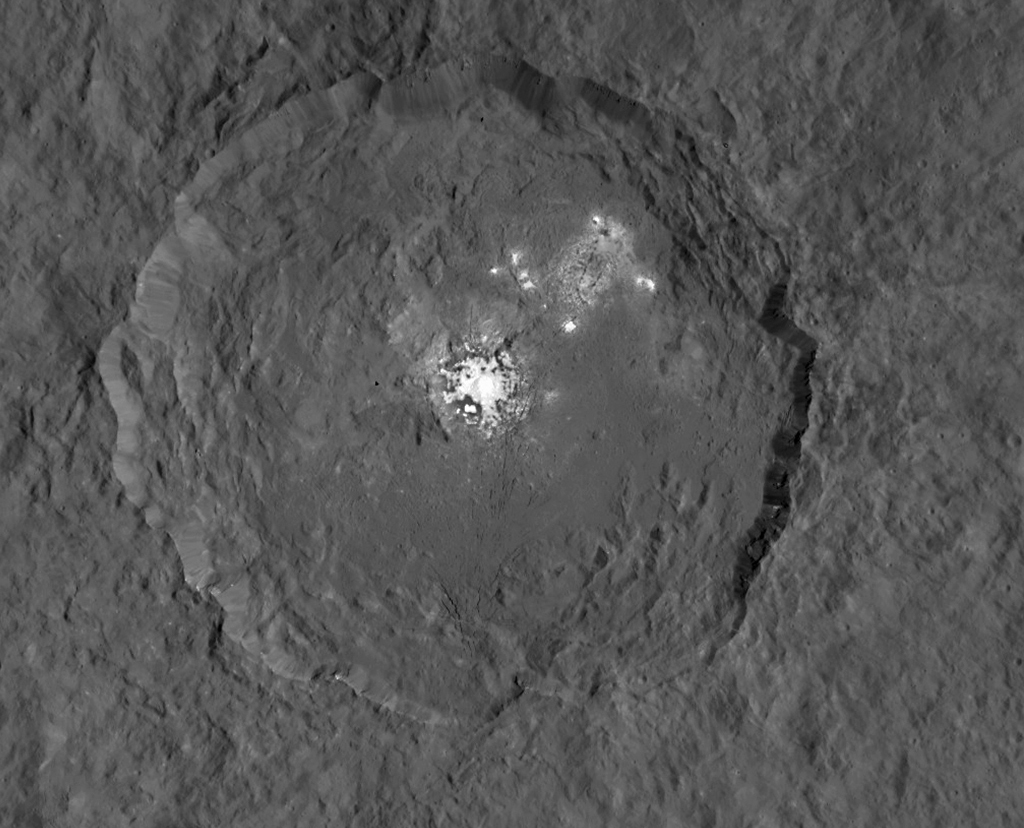 Bright Spots On Dwarf Planet Ceres 'Gleam With Mystery,' NASA Says
