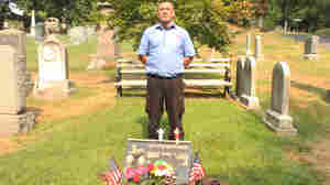 """Feliciano stands at the gravesite of his wife, Rosa. """"She's buried here,"""" he says. """"So Green-Wood Cemetery is ground zero for me."""""""