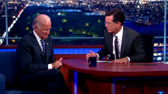 During Vice President Biden's interview with new Late Show host Stephen Colbert, the two men talked about tragedy in their lives.