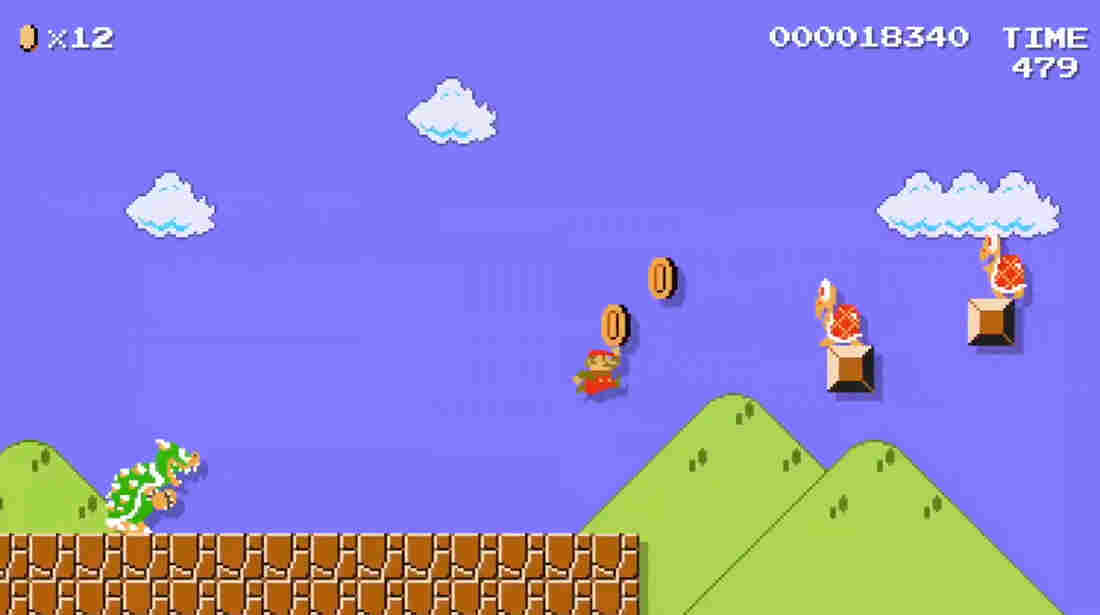A screenshot of Nintendo's video commemorating Super Mario's the 30th anniversary.