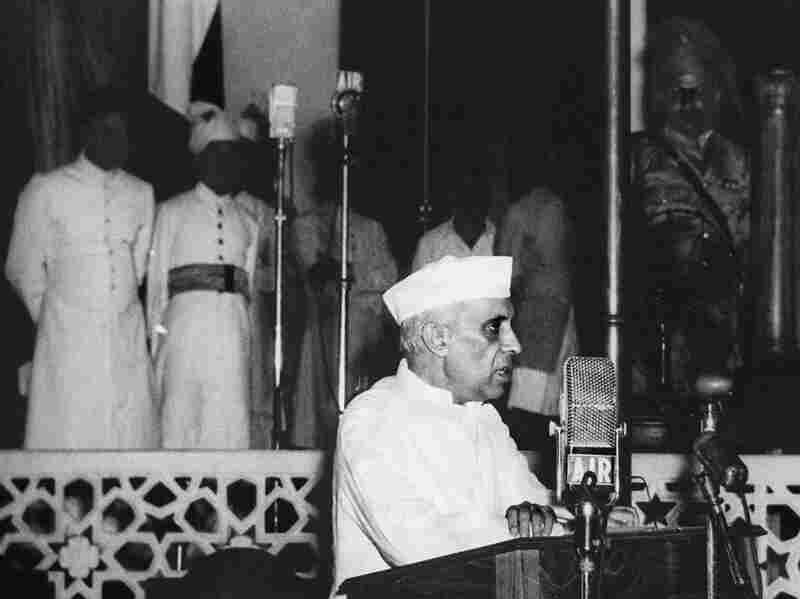 """Nehru delivered his famous """"tryst with destiny"""" speech on Aug. 14, 1947, in New Delhi. """"At the stroke of the midnight hour, when the world sleeps,"""" Nehru told an enthralled nation on the eve of independence, """"India will awake to life and freedom."""""""