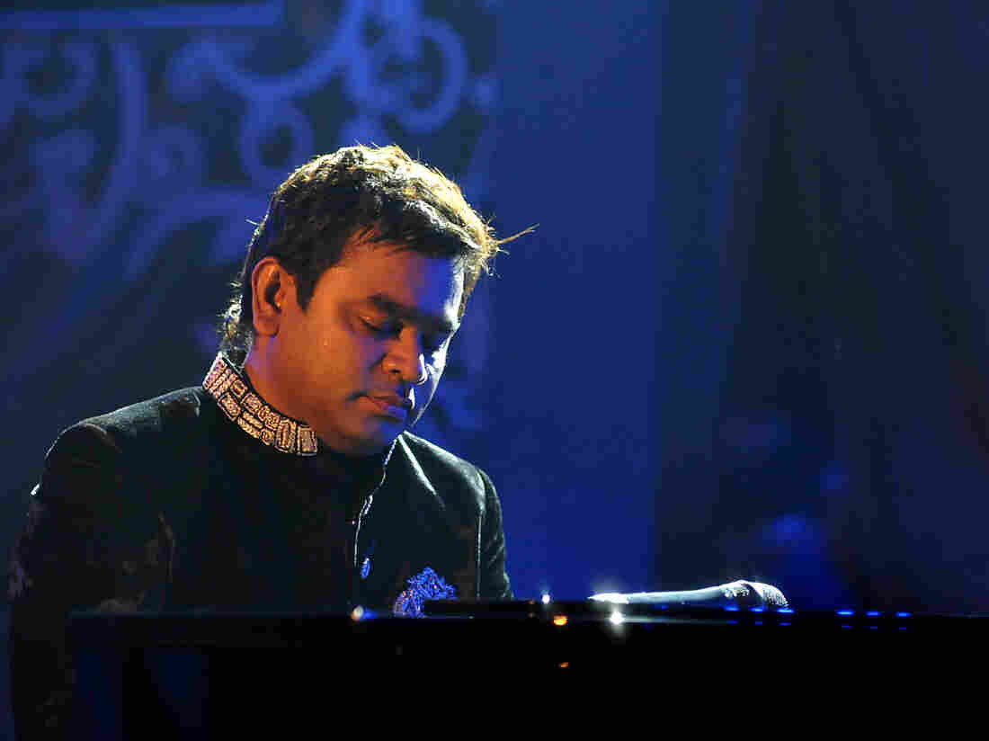 Indian composer A.R. Rahman performing in Mumbai in February 2014.