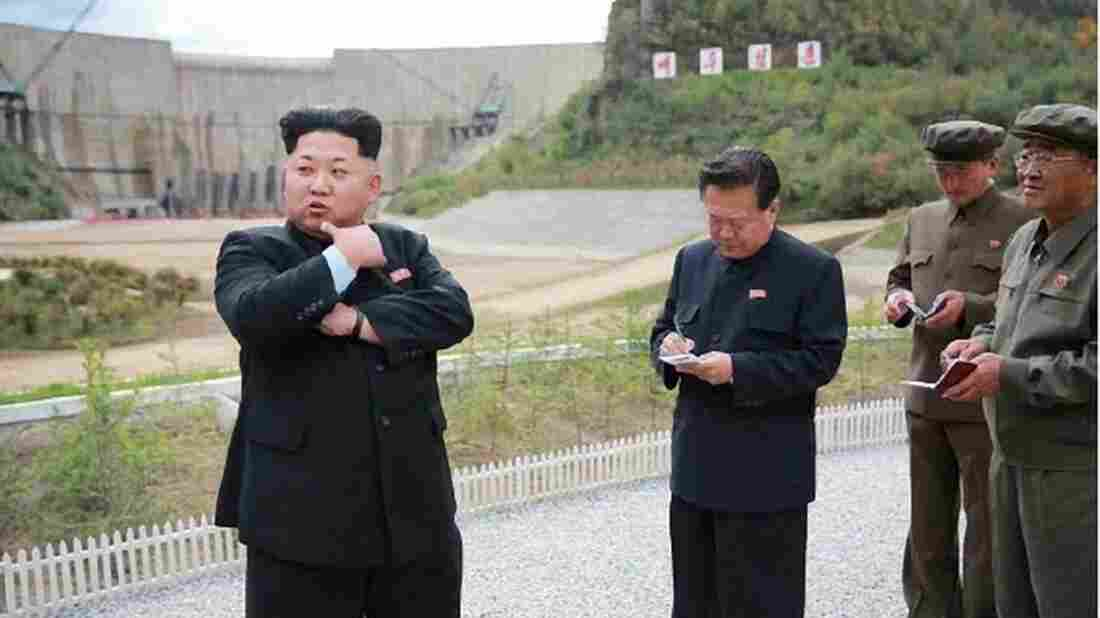 North Korean leader Kim Jong Un, seen here in an undated picture released by the Rodong Sinmun newspaper, has said his country will never give up its nuclear weapons. In the photo, Kim was visiting a hydroelectric power plant.