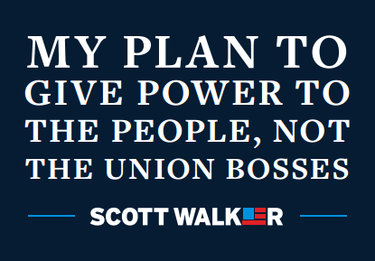 The front page of Wisconsin Gov. Scott Walker's plan to take on labor unions.