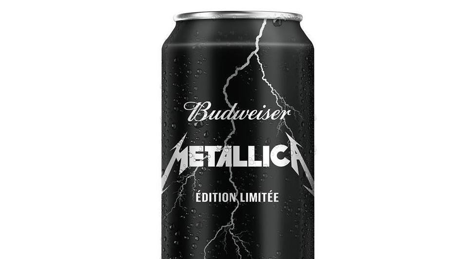 "A limited-edition run of ""Budweiser infused with Metallica"" will be released in Quebec, Canada, on Sept. 28. (Budweiser)"