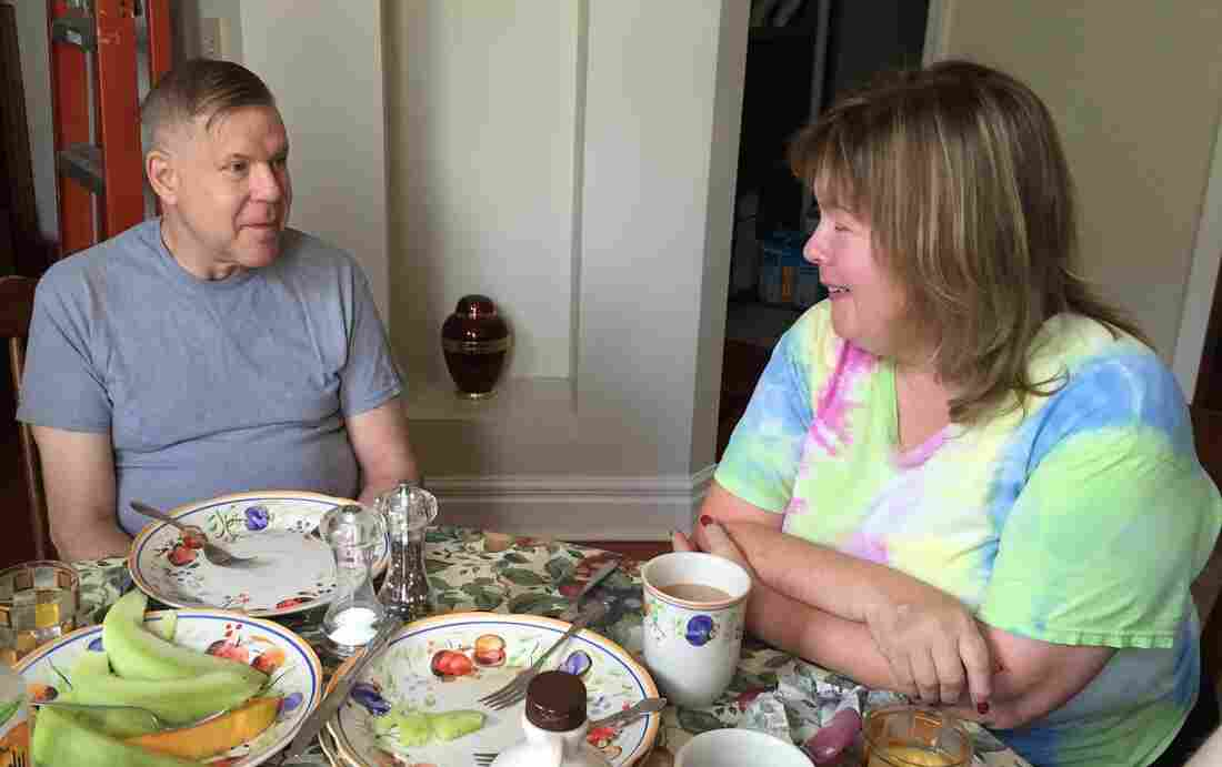 Betty and Jeff Waite enjoy family brunch with their sons. The Waites say they were happily married for 17 years before Jeff told Betty he was questioning his sexuality. The news came as a shock to her, as it does to many men and women who learn their spouse is gay.
