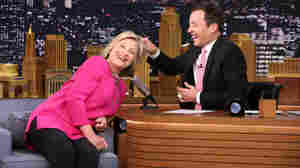 On 'The Tonight Show,' A Relaxed Hillary Clinton, Finally