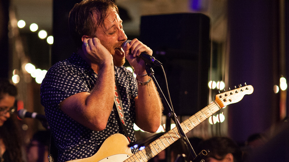 Dan Auerbach performs with The Arcs at Housing Works in New York City. (Ebru Yildiz for NPR)