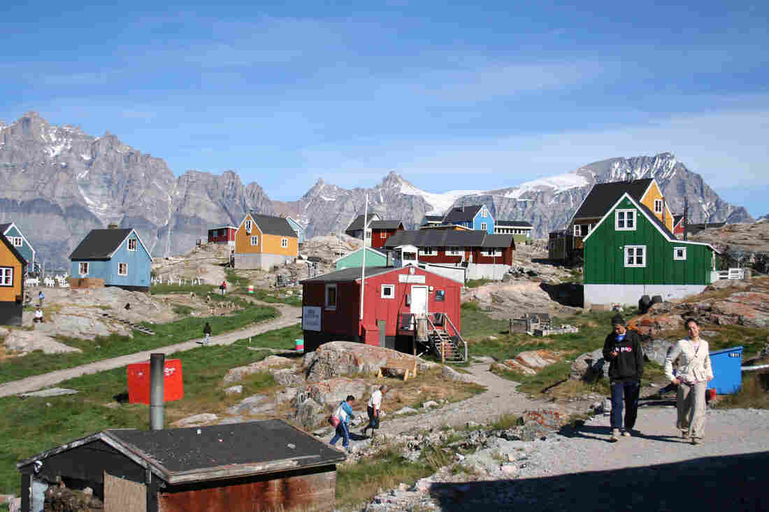 The village of Ukkusissat, Greenland, near where the researchers conducted their study of the Inuit diet.
