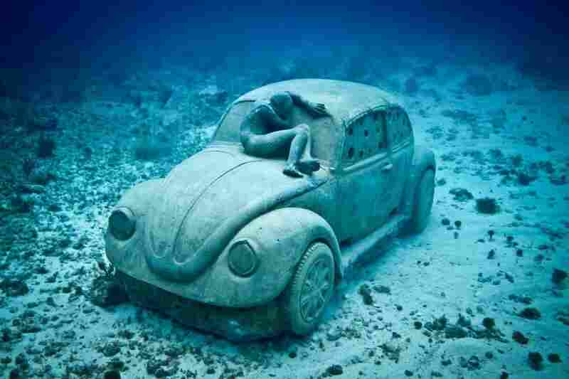 Anthropocene, by Jason deCaires Taylor, off the coast of Cancun, Mexico.