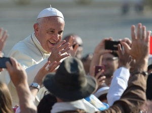 Face-to-face with Pope Francis: What do you say? Here, the pope arrives for his general audience at St. Peter's Square on Oct. 1, 2014, at the Vatican. He arrives in the U.S. on Tuesday.