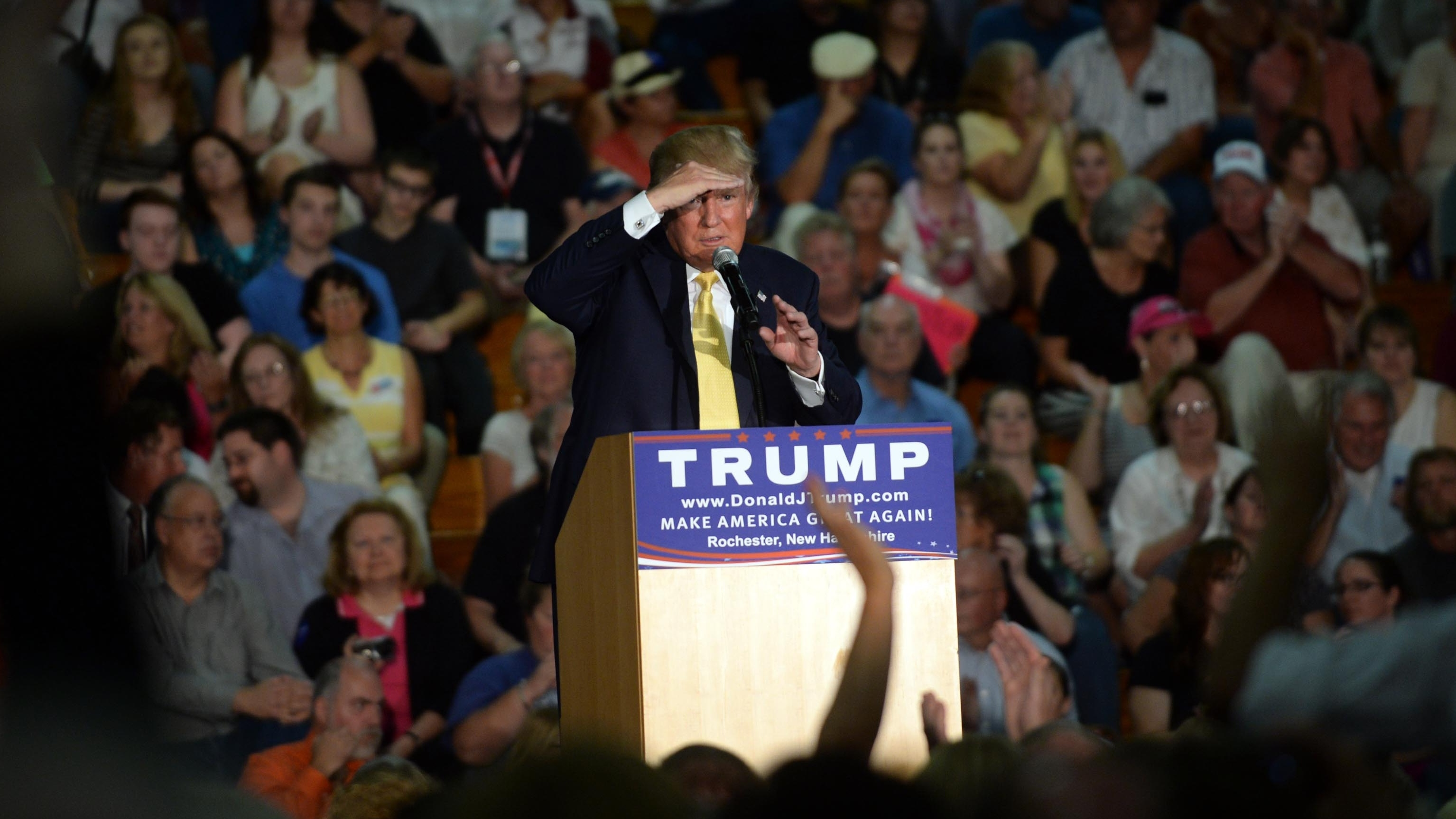 Trump Does Nothing As Questioner Says Obama Is Muslim