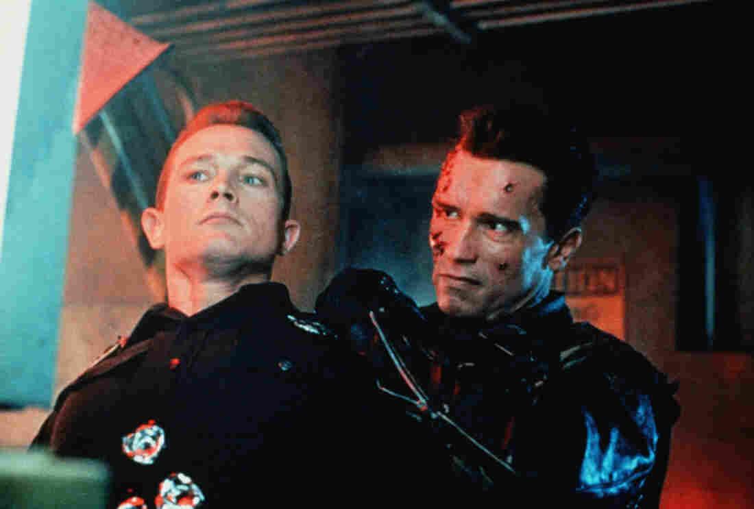Robert Patrick (left) and Arnold Schwarzenegger in Terminator 2: Judgement Day.