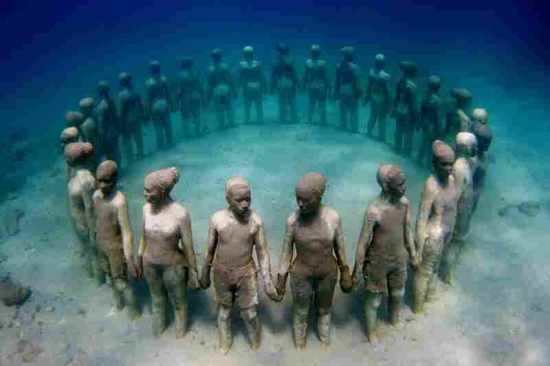 Vicissitudes, by Jason deCaires Taylor, off the coast of Granada.