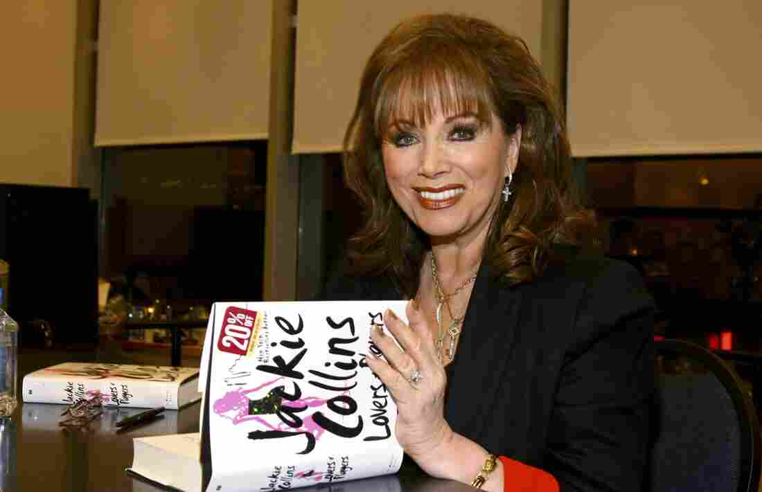 Jackie Collins poses at an appearance at Barnes & Noble to sign her book Lovers And Players in 2006. The author has died at the age of 77.