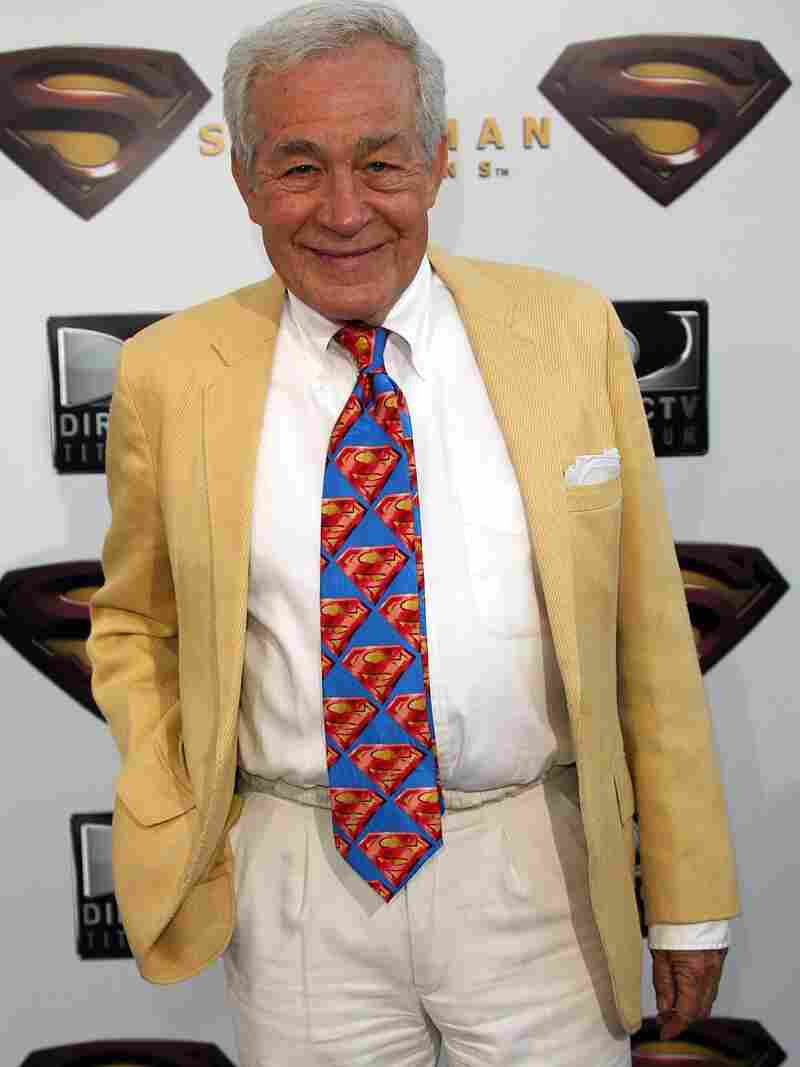 Actor Jack Larson, who played a cub reporter at The Daily Planet, has died at 87. He's seen here at the premiere of Superman Returns in 2006.