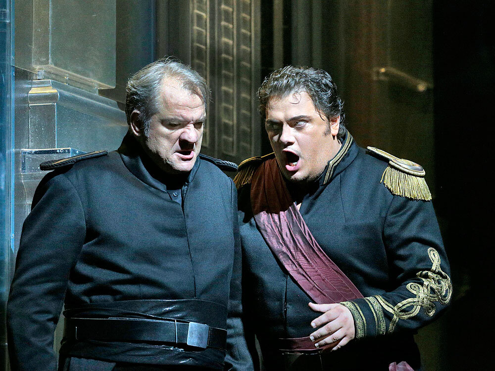 Aleksandrs Antonenko (right) will be the Met's first tenor to forego skin darkening makeup to play the lead role in Verdi's Otello.