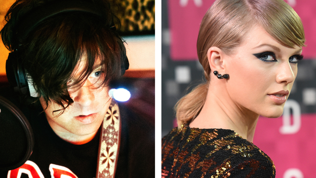 Ryan Adams' latest release is a song-for-song cover of Taylor Swift's 1989 album. (Left: Julia Brokaw /Courtesy of the artist. Right: Jason Merritt/Getty Images)