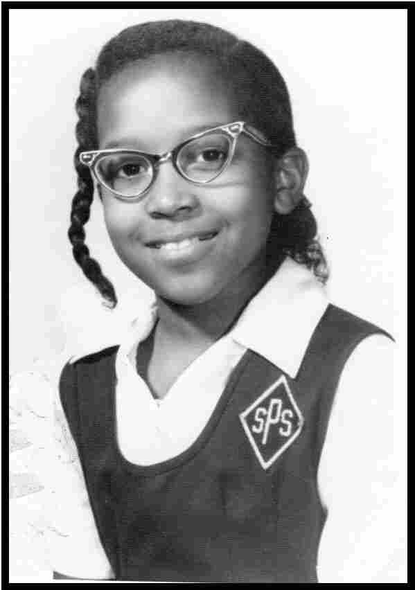 Writer Mary C. Curtis in her fourth grade school picture from St. Pius V school in Baltimore, Md.