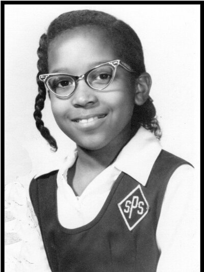 Writer Mary C. Curtis in her fourth-grade school picture from St. Pius V school in Baltimore, Md. (Courtesy of Mary Curtis)