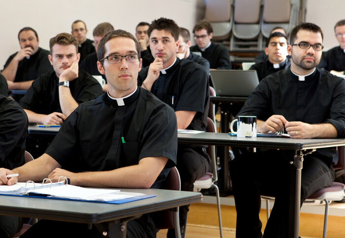 Seminarians attend a theology class at the University of Saint Mary of the Lake at Mundelein Seminary in Mundelein, Ill. (Courtesy of Mundelein Seminary)