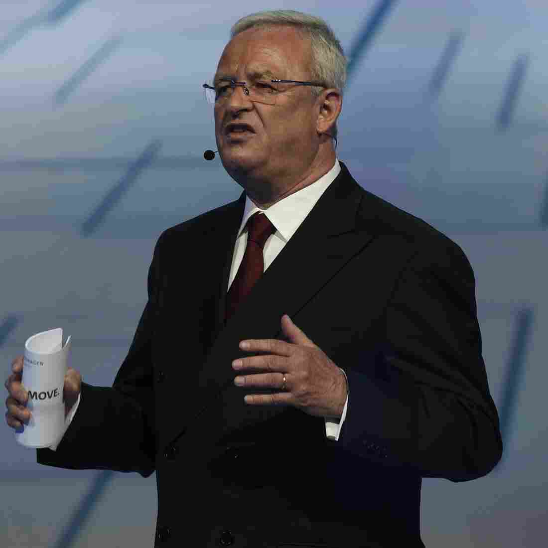 Volkswagen CEO Resigns, Saying He's 'Shocked' By Emissions Scandal