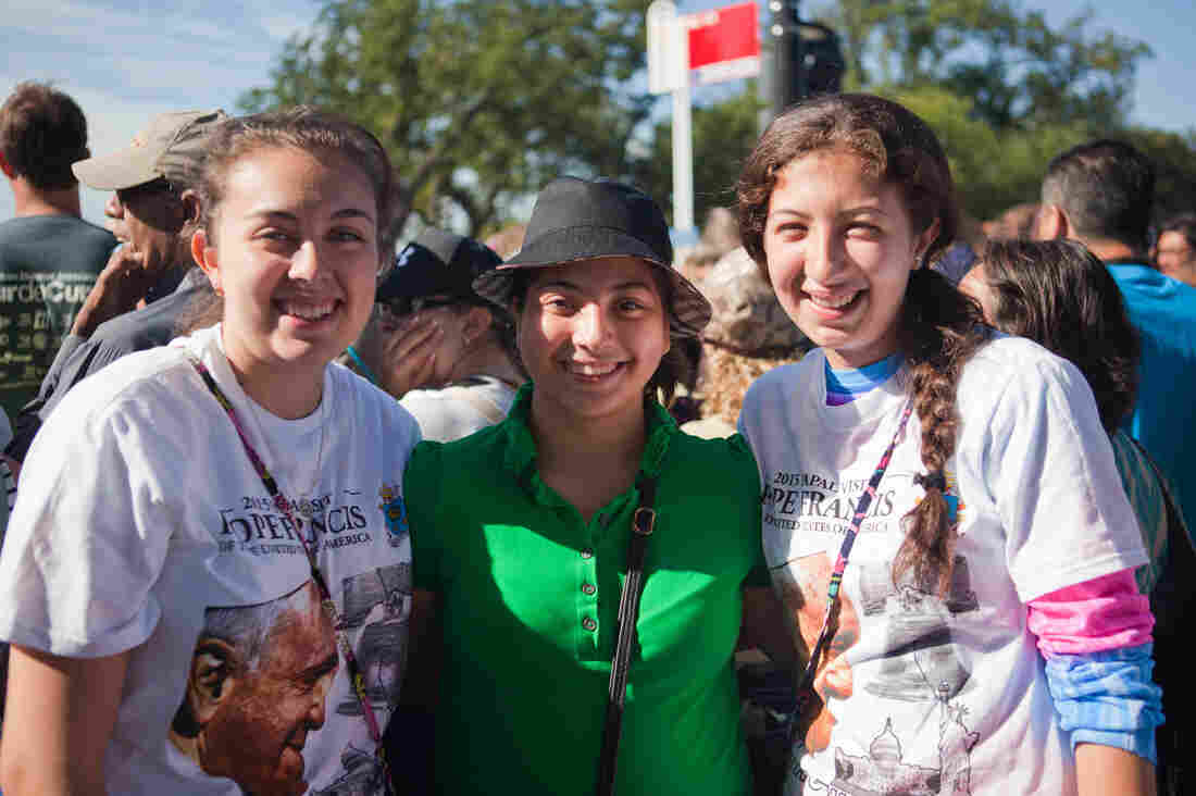Monica Reynosa, 19 (from left); Aylin Garcia, 15; Karen Reynosa, 15