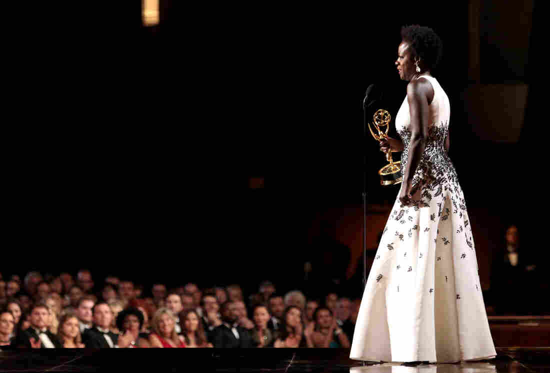Viola Davis accepts the award for outstanding lead actress in a drama series for How to Get Away With Murder at the 67th Primetime Emmy Awards on Sept. 20.