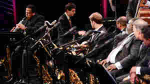 Wayne Shorter performs with the Jazz at Lincoln Center Orchestra.