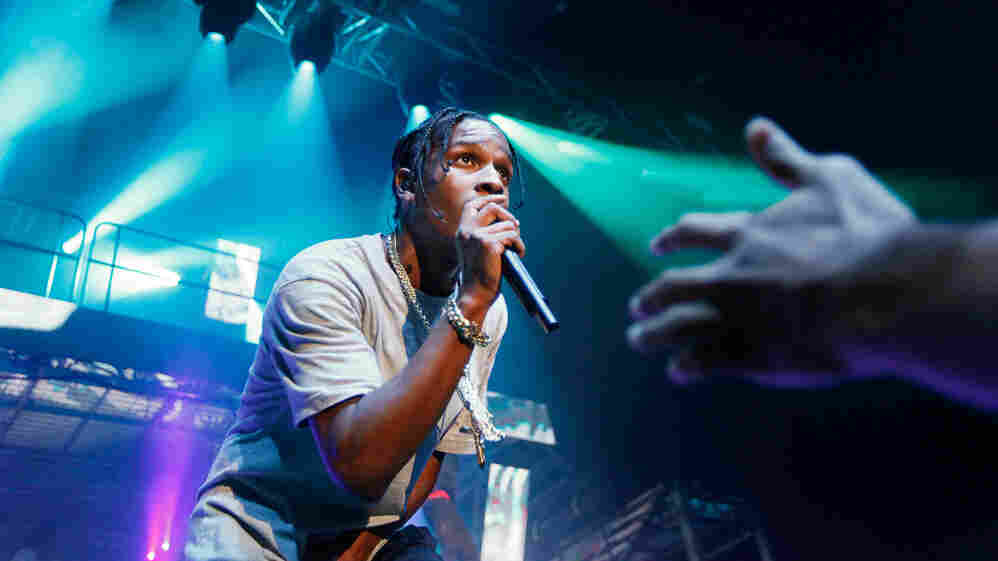 A$AP Rocky performs for a sold-out crowd at the Theater at Madison Square Garden in New York City.