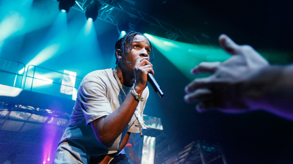 A$AP Rocky performs for a sold-out crowd at the Theater at Madison Square Garden in New York City. (Polina V. Yamshchikov for NPR)