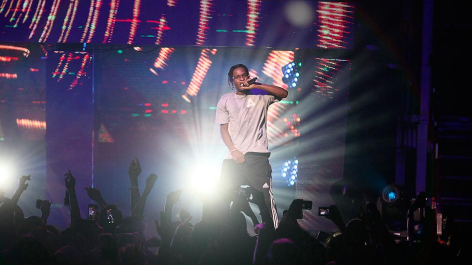A$AP Rocky closes the show with a raucous set. (Polina V. Yamshchikov for NPR)