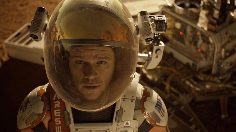Astronaut Mark Watney (Matt Damon) gets stranded on Mars in <em>The Martian.</em> (Courtesy of Twentieth Century Fox )
