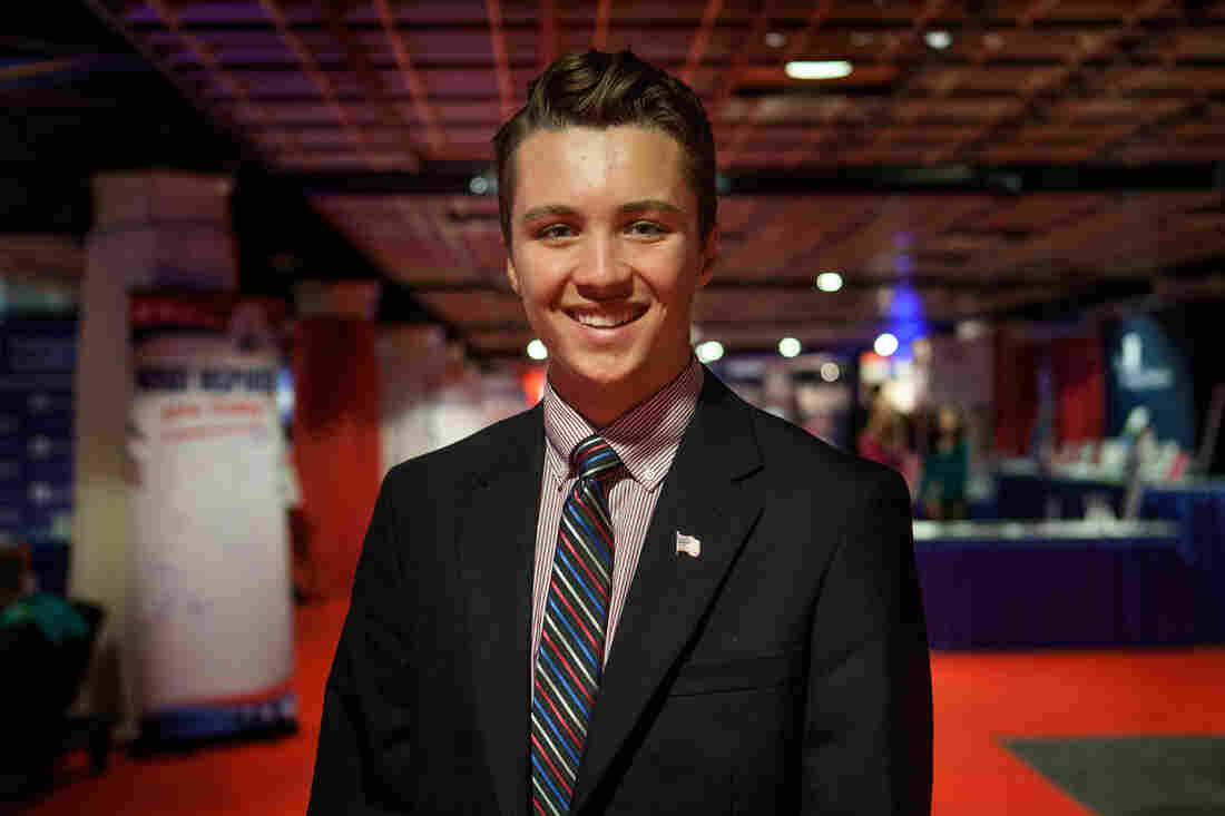 Thomas Simpson, a student at Liberty University, at the Values Voter Summit in Washington, D.C. on Friday, Sept. 25, 2015.