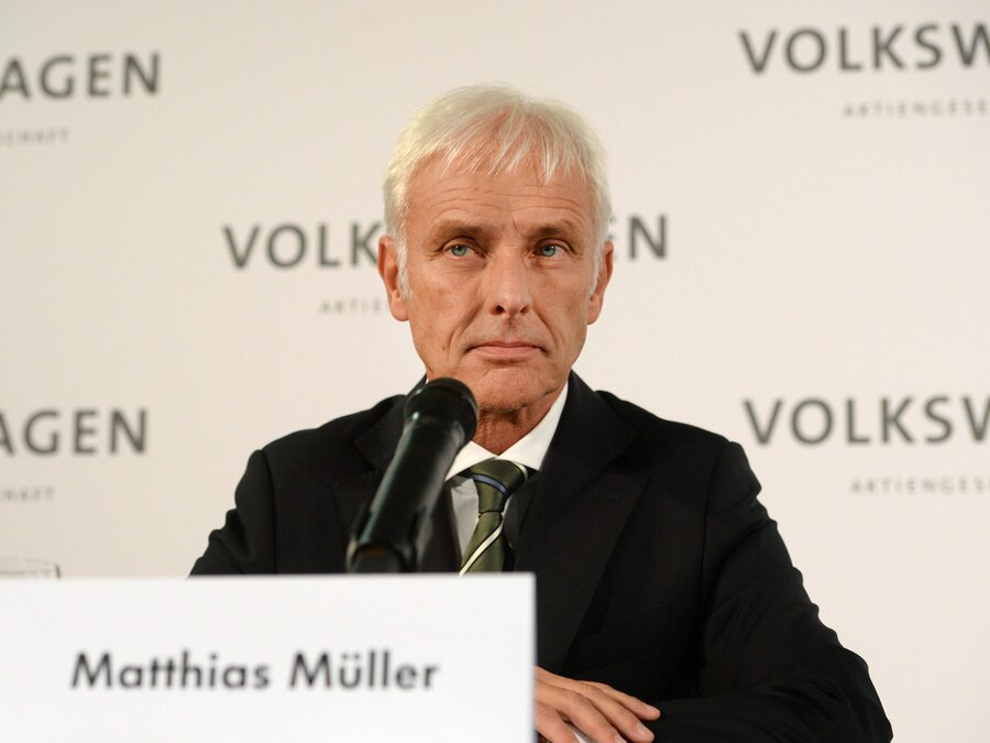 Matthias Müeller is appointed as VW's new CEO on September 25th, 2015.