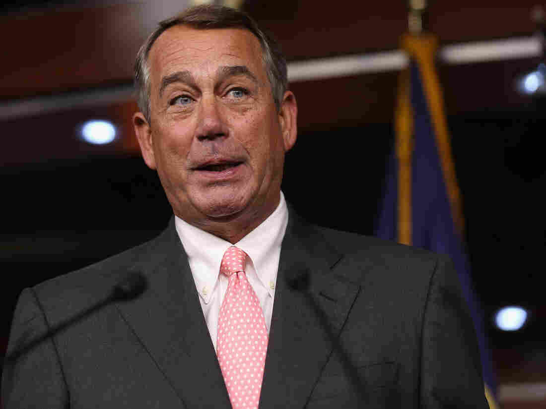 He's known for tears, but at his press conference announcing his resignation, Speaker John Boehner seemed almost giddy.