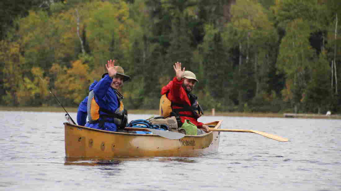 Amy and Dave Freeman paddle into the Boundary Waters, starting their 365 days in the wilderness to raise awareness of mining plans in the region.