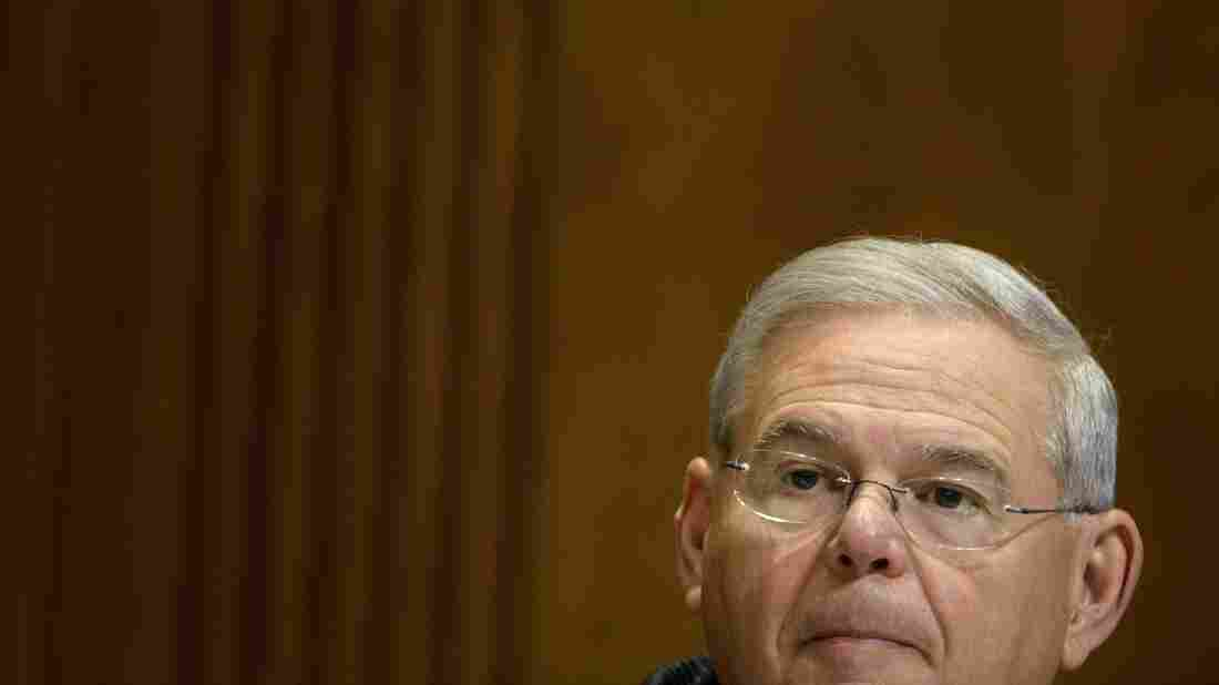 Sen. Robert Menendez listens during a meeting of the Senate Foreign Relations Committee in April.