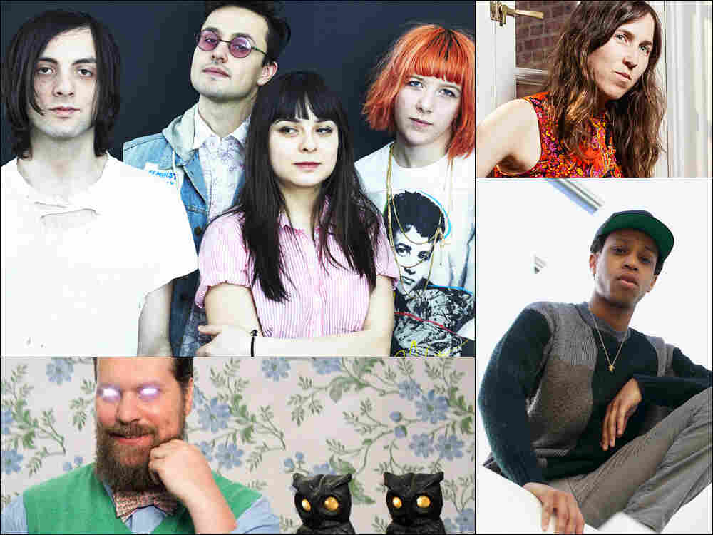 Clockwise from upper left: Dilly Dally, Marian McLaughlin, Pell, John Grant