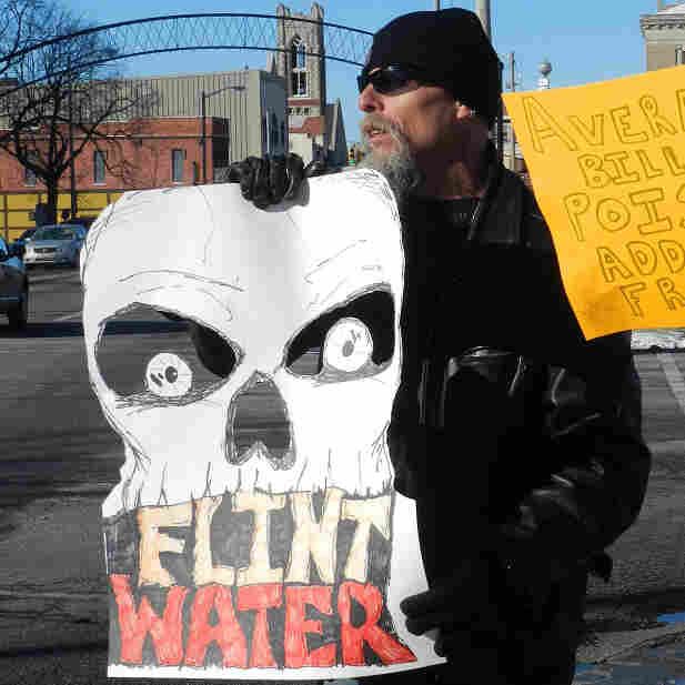 Residents of Flint, Mich. (shown here in January), have been protesting the quality and cost of the city's tap water for more than a year.