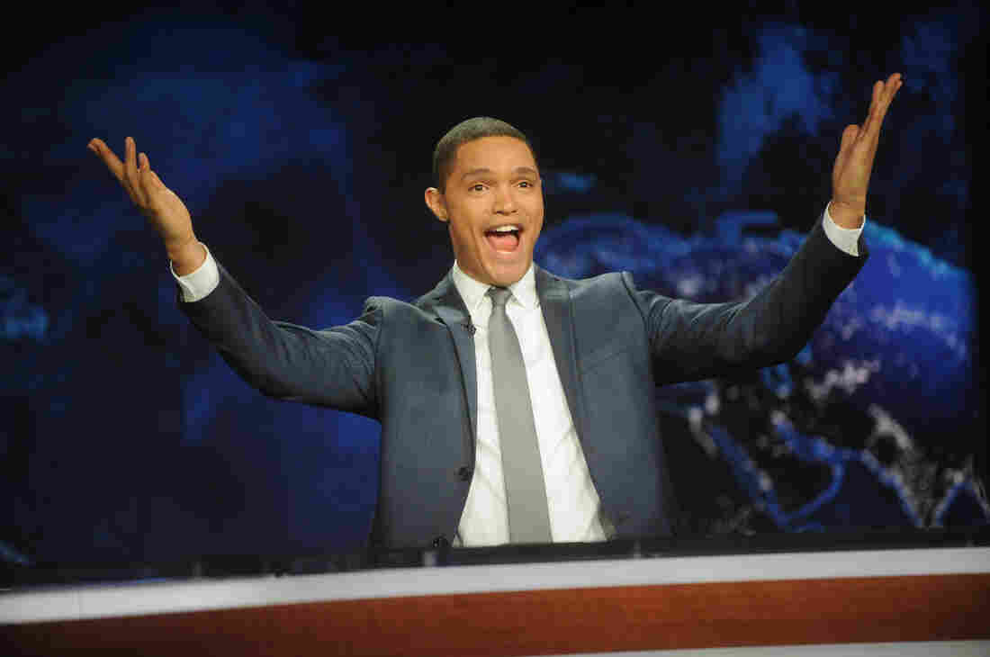 Trevor Noah hosts Comedy Central's The Daily Show with Trevor Noah premiere on Monday in New York City.